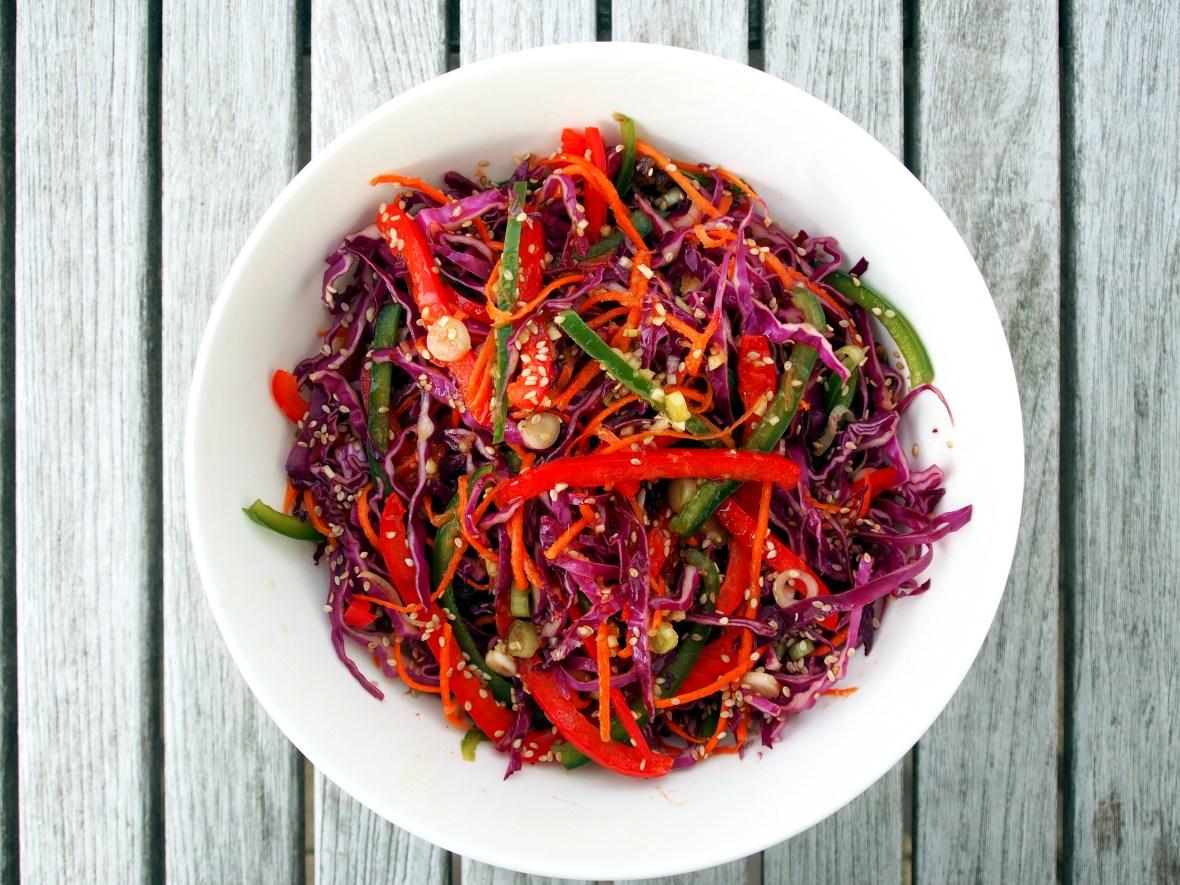 Salads, slaw, Chinoiserie coleslaw 1.JPG