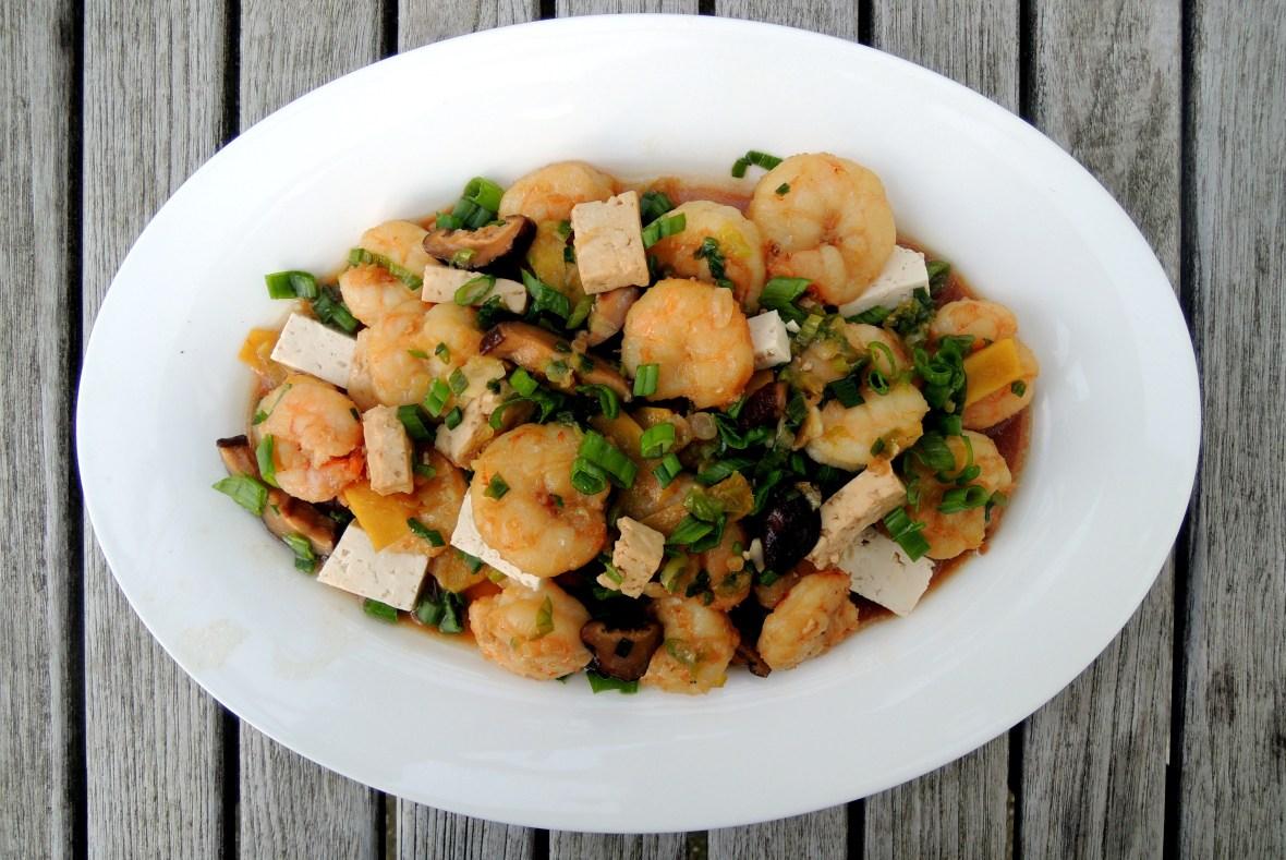 Stir-frys, Diana's shrimp with scallions 1