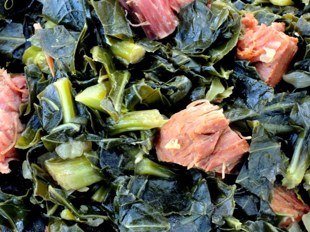 Vegetables, collard greens, cider braised collard greens with ham 3