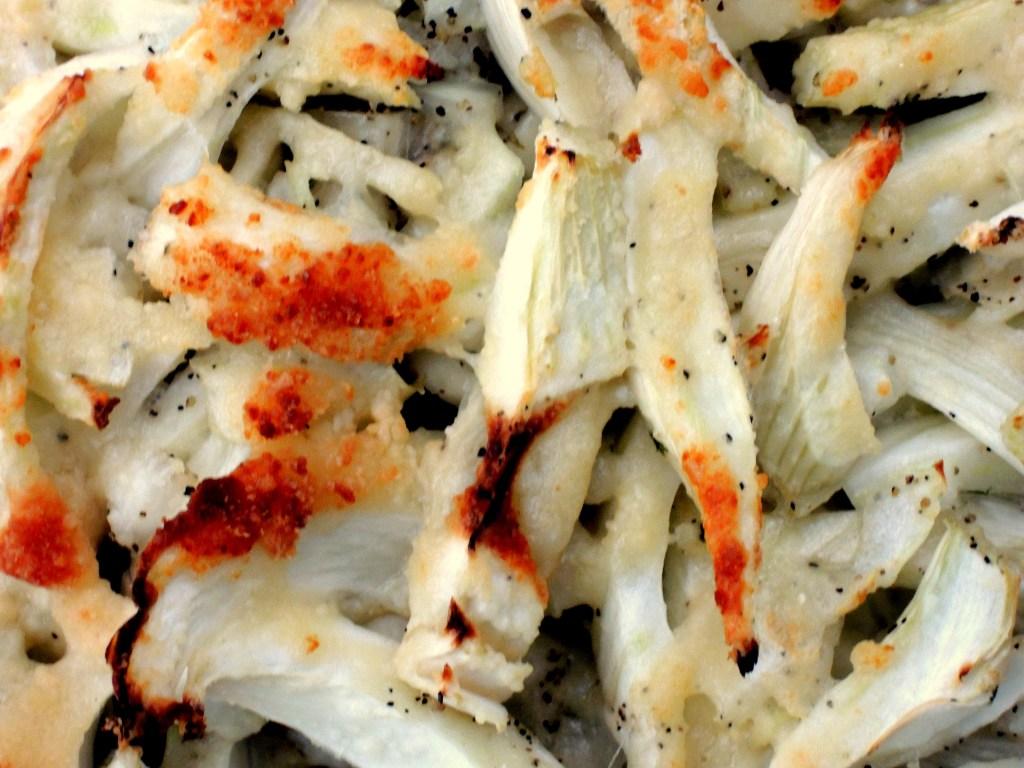 Vegetables, fennel, baked fennel Parmigiana 3