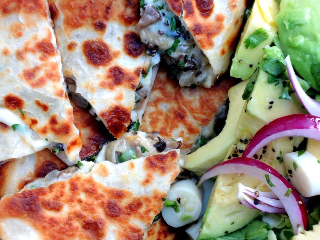 Sandwiches, quesadillas, wild mushroom 2