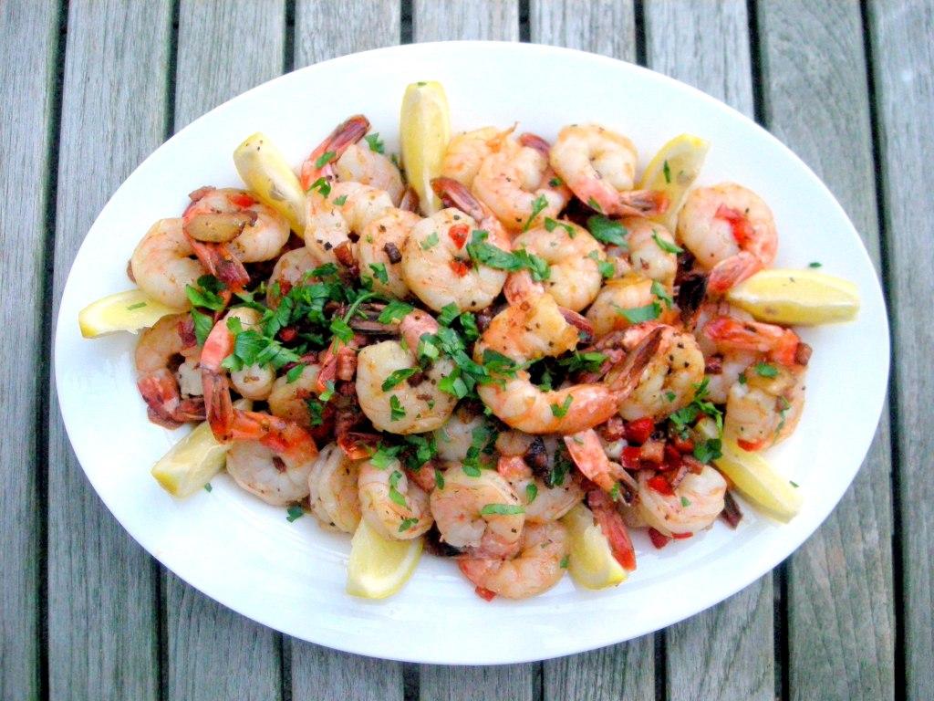 Shrimp, sauteed shrimp ajillo 1