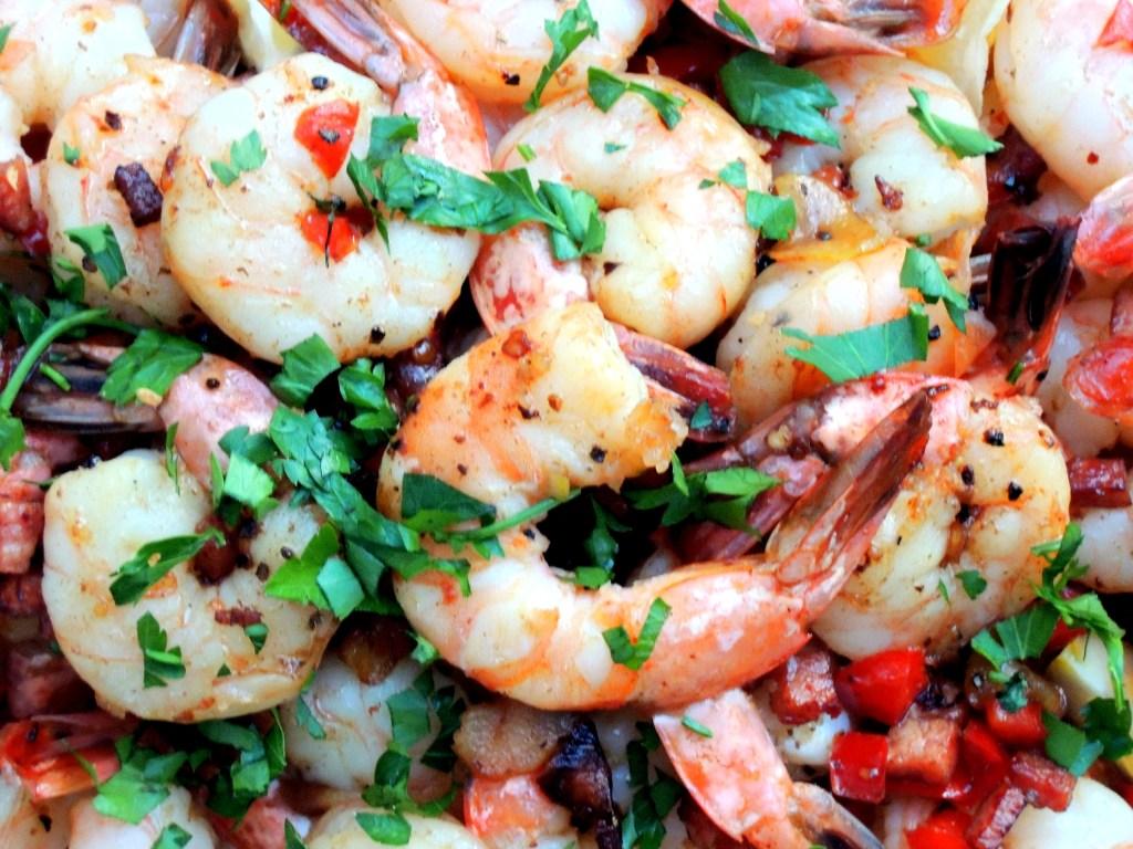 Shrimp, sauteed shrimp ajillo 2