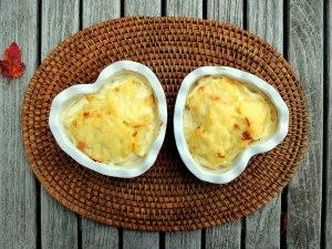 Vegetables, potato gratins, scalloped potatoes baked in cream 2