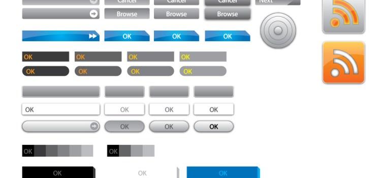 77 векторных кнопок для сайта