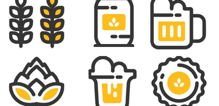 6 Иконок пива