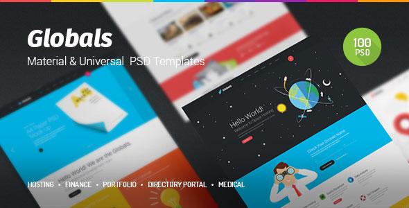 Globals Material — Универсальный PSD Шаблон