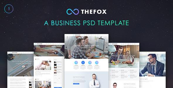 TheFox Бизнес PSD Шаблон