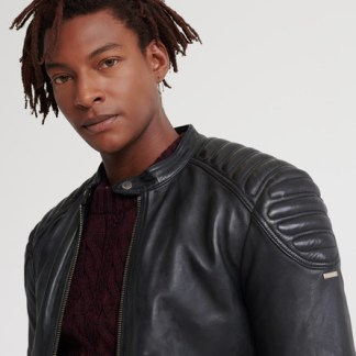 Superdry Superdry City Hero Leather Racer Jacket