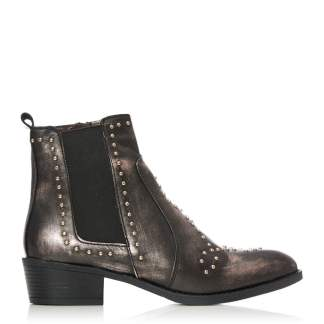 Moda In Pelle Bonita Bronze Metallic Leather