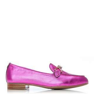 Moda In Pelle Ferna Fuschia Metallic Leather
