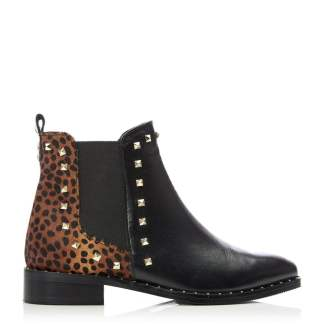 Moda In Pelle Kassy Black - Mini Leopard Leather
