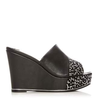 Moda In Pelle Sabreena Black Porvair