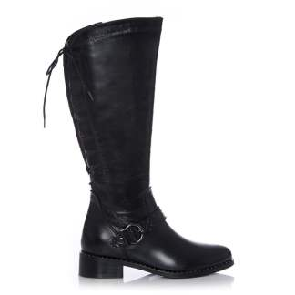 Moda In Pelle Weera Black Leather