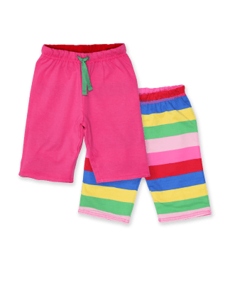 Toby Tiger Pink Multi Stripe Reversible Trousers