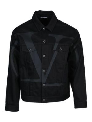 Vltn Black Denim Jacket
