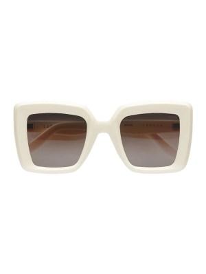 Teresa Square Sunglasses, White