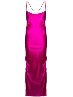 Yasmin Midi Slip Dress Fuchsia