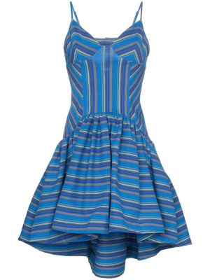 Flared Stripe Print Dress