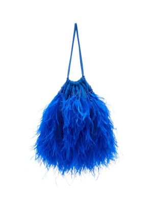 Ostrich Feathers Embellished Bag