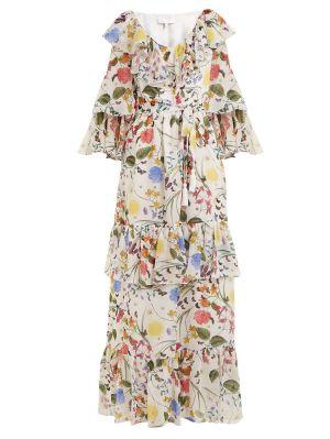 Margaux Garden-print Silk Dress