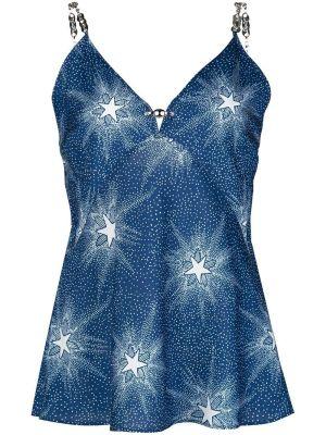 Blue Starlight Slip Blouse