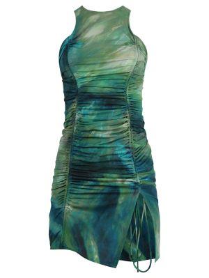 Green Brush Mini Dress