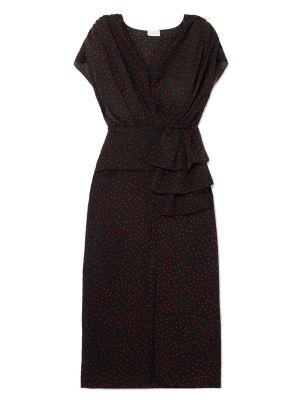 Diablo Black Polka-dot Dress