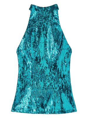 Turquoise Sequined Top