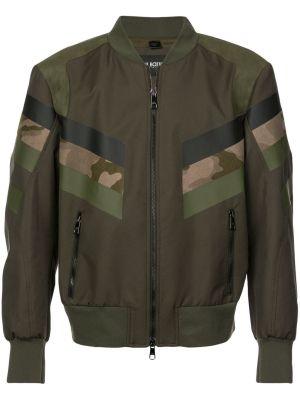 Panelled Camouflage Bomber Jacket