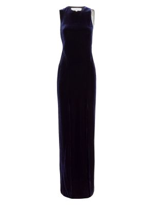 Sheer Panel Velvet Crescent Dress