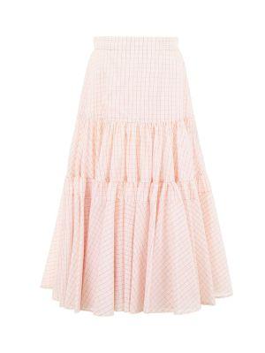 Midi Check Skirt