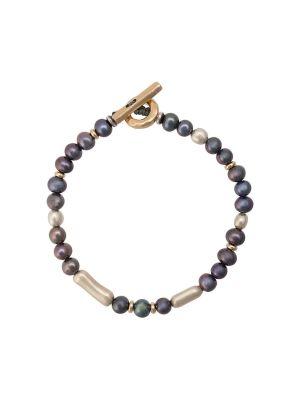 Nebula Pearl & Gold Bracelet