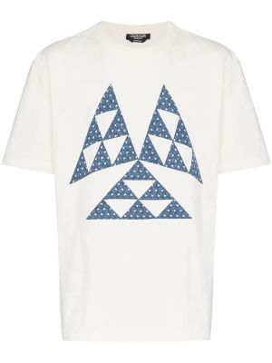 Triangle Print Cotton T Shirt