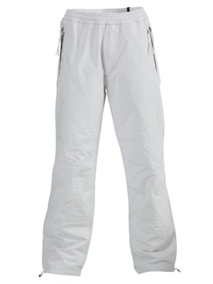 White Relaxed-fit Elasticated Pants