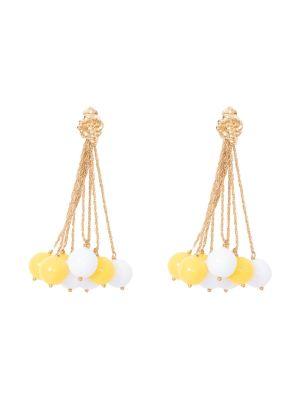 Lhd X Aurelie Bidermann Yellow And White Palazzo Earrings
