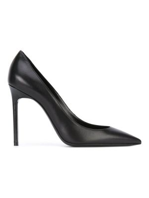 Black Leather Anja 105 Pump