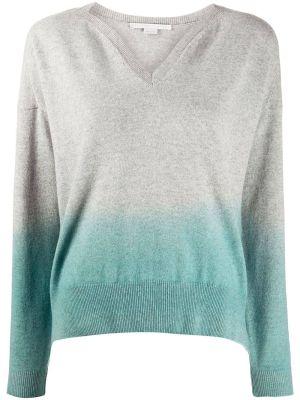 Grey & Blue Dip Dye Sweater