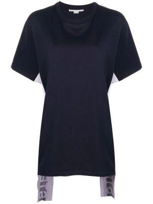 Asymmetric Logo Stripe T-shirt