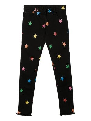 Kids Multicolor Star Print Denim