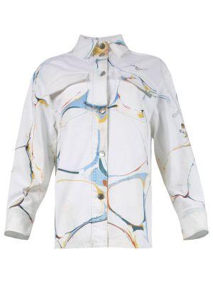 Marble Print Denim Jacket