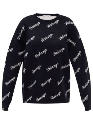 Script-logo Intarsia Sweater
