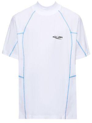 Jaws Contrast Stitching T-shirt