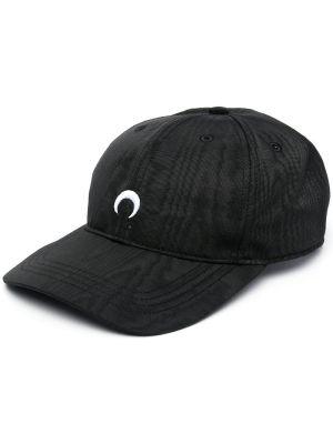 Black And White Moire Logo Baseball Cap