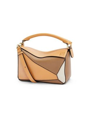 Puzzle Small Bag, Warm Desert And Mink Brown