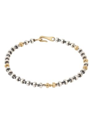 18k Matte Gold And Silver Small Omni Bracelet