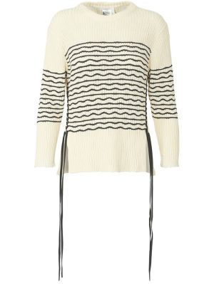 Striped Side Tie Knit Top