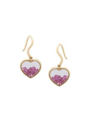 18kt Gold Chivor Earrings With Rubies