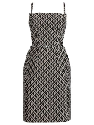 Moon Lozenge Print Apron Dress