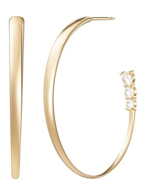 18k Yellow Gold Aria Hoop